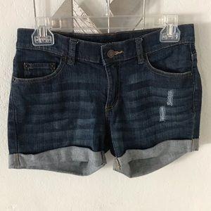 Joe Fresh Jean fold over shorts